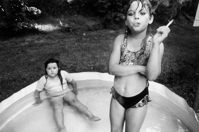 Amanda and her Cousin, Amy Valese, North Carolina, 1990